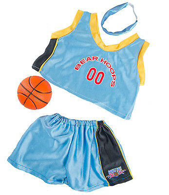 """Bear Hoops"" Basketball Outfit w/ Ball Teddy Bear Clothes Fit 14"" - 18"" Build-A-"