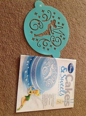 Disney Cakes And Sweets Magazine Issue 7 with Tinker bell Stencil