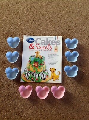 Disney Cakes And Sweets Magazine Issue 8 Silicone Mickey Mouse Head Cake Cases