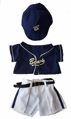 "Baseball Uniform Outfit Teddy Bear Clothes Fit 14"" - 18"" Build-a-bear, Vermont T"
