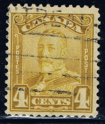 Canada #152(2) 1929 4 cent bistre George V Scroll Used CV$7.50