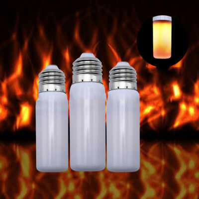 Flame Lamp Effect Fire Light Led E27 Bulb Flicker Burning Simulated B22 Decor T1