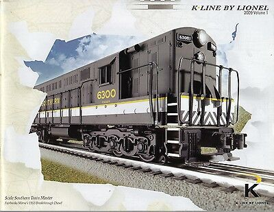 K-Line by Lionel 2009 Volume #1 Model Railroad Reference Book Catalog