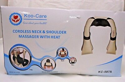 Koo-Care Cordless Neck & Back Massager with Heat Shoulder Foot Massager - Q2 A3