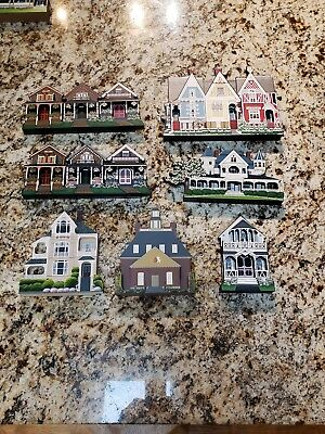 Lot of 7 Sheila Houses 1990's and early 2000's, includes 1st 3 days of Christmas