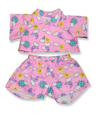 "Pink Cloud Pj/'s Outfit Teddy Bear Clothes Fits Most 14/"" 18/"" Build-a-bear and M"
