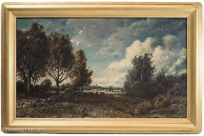 Patrick Vincent Berry Antique Signed Oil Painting of American Landscape w/ Cows!