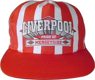 d3de6956069 Liverpool Fc Baseball Cap New Red And White Stripe Pride Of Merseyside