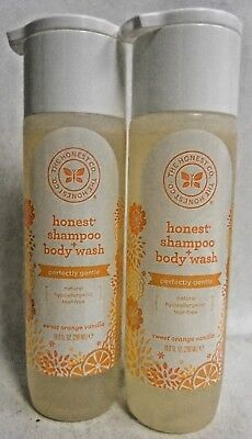 Honest Perfectly Gentle Hypoallergenic Shampoo and Body Wash 2 Pack Q1 D23