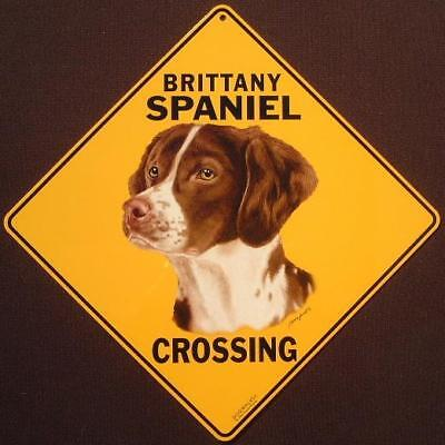 BRITANY SPANIEL CROSSING SIGN aluminum dogs novelty decor  signs home animals