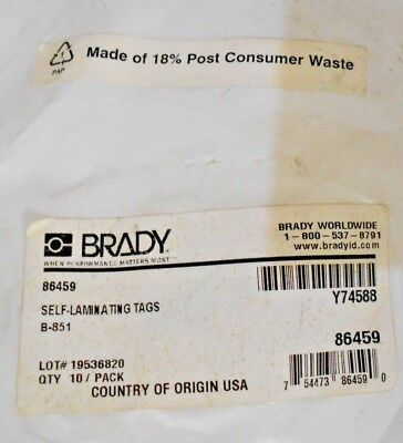BRADY Polyester Danger Tag,5-3/4 x 3 In,Out Of Svce,PK10, 86459 Q1 E12