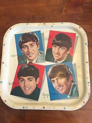 The Beatles tray Worcester Ware metal serving tray The Fab Four!!!