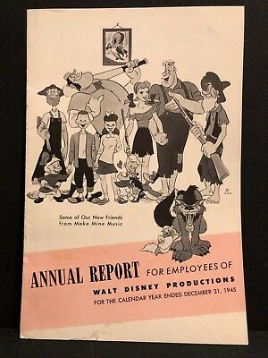 1945 Walt Disney Productions Annual Report Song of the South, Make Mine Music!
