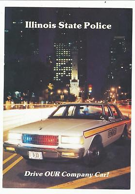 Illinois State Police Become an Trooper employment recruiting postcard June 1990
