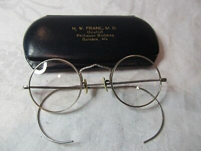Vintage Bausch & Lomb's B & L 1/10 12K White Gold Filled Eye Glasses and Case