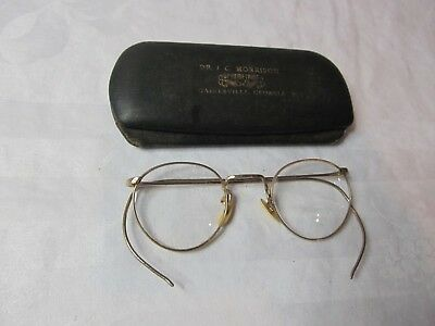 Vintage American Optical A/O 1/10 12K Yellow Gold Filled Eye Glasses and Case