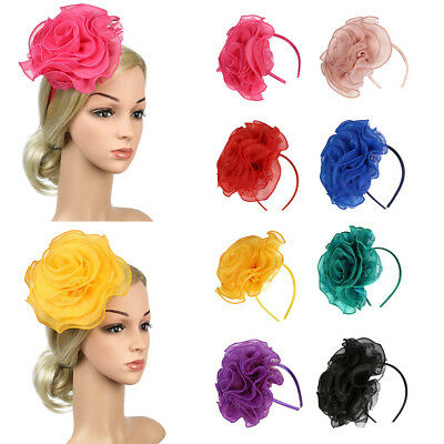 Lady Flower Headband Barrette Fascinator Wedding Bridal Day Race Royal Ascot