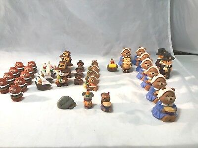 Vintage Lot of  37 Thanksgiving Merry Miniatures from Hallmark