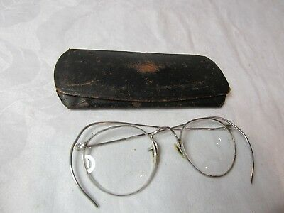 Vintage American Optical A/O 1/10 12K White Gold Filled Eye Glasses and Case