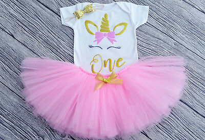 Personalised Girl 1st First Birthday Outfit Tutu Skirt Baby girl Cake Smash