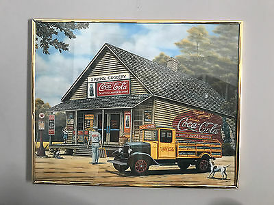 Coca Cola Smith's Grocery Print Framed