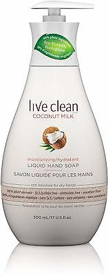 Moisturizing Coconut Milk Liquid Hand Soap, Live Clean, 17 oz 3 pack