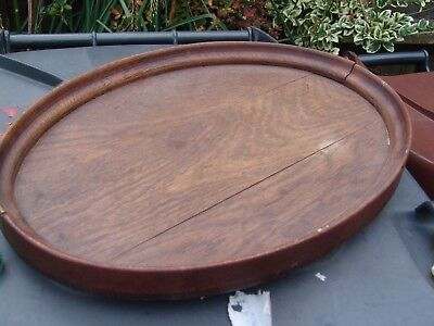 Edwardian Wooden Oval Butlers Tray OAK