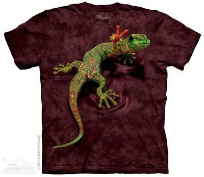 Peace Out Gecko Giving Peace Sign The Mountain T-Shirt (3119) All Sizes