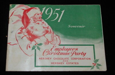 Vintage 1951 Hershey Chocolate & Estates Employee Christmas Party Booklet