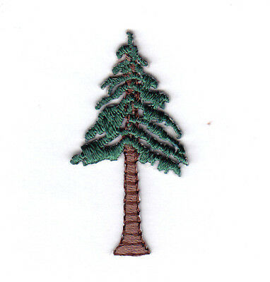 PINE TREE Iron On Embroidered Patch Forest Trees