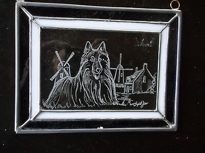 Belgian Sheepdog- Beautifully Hand engraved Designer  Panel by Ingrid Jonsson.