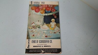 1961 Maid of Scandinavia Catalog Cake Wedding Party Decorating Booklet