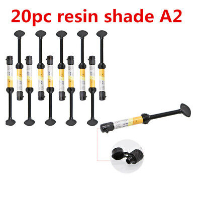 20Pc Dental Resin Shade A2 Dentist Syringe Universal Composite Light Curing Lab