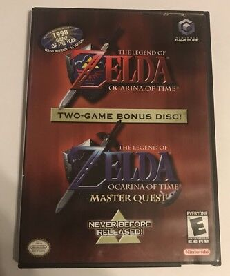 Nintendo GameCube The Legend Of Zelda Ocarina Of Time & Master Quest Two-game