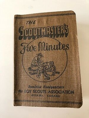 The Scoutmaster's Five Minutes - Vintage Handbook Boy Scouts Association 1944
