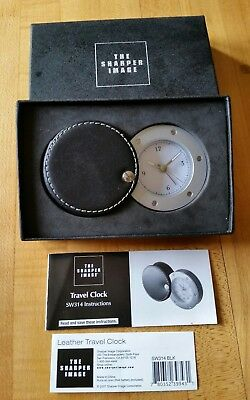 The Sharper Image Travel Clock SW314 New in box