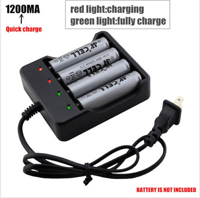 For 18650 Li-ion Rechargeable Battery 4-Slot Smart Battery Charger LED indicator