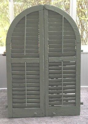 Antique Victorian Arched Lever Shutters