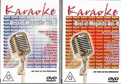 DVDs * Karaoke * Best of Megahits * Vol.3 + Vol.9 * 2 DVDs * NEU *