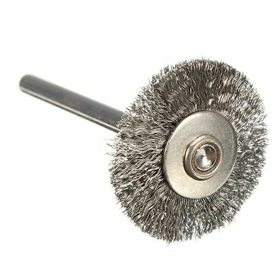 20x Stainless Steel Wire Wheel Brushes For Die Grinder Rotary Tools New Q6V1