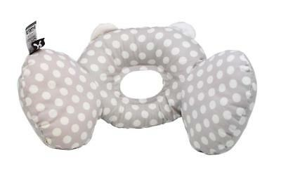 BenBat Bear Hug Headrest Grey / White Dots - 0 to 12 Months