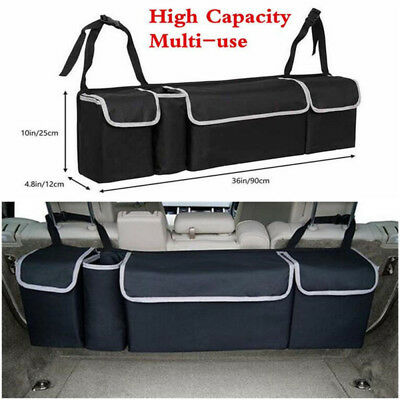Multi-use High Capacity Car Seat Back Organizers Bag Black Interior Accessories