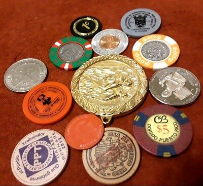 BEGINNER SET Amateur PUERTO RICO Exonumia Casino Coin Token Ficha Medalla Trade