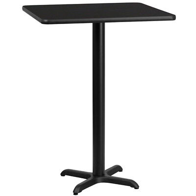 """24"""" Square Black Laminate Top With 22"""" X 22"""" Bar Height Table Base"""