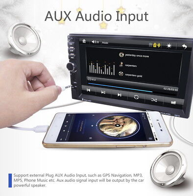 7'' Car Stereo Radio GPS Navi MP5 Player 2DIN Wifi Bluetooth USB FM Android 5.1