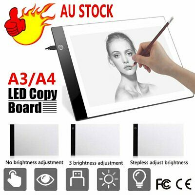 A3 A4 USB LED Tracing Light Box Board Tattoo Drawing Copy Pad Stencil Display