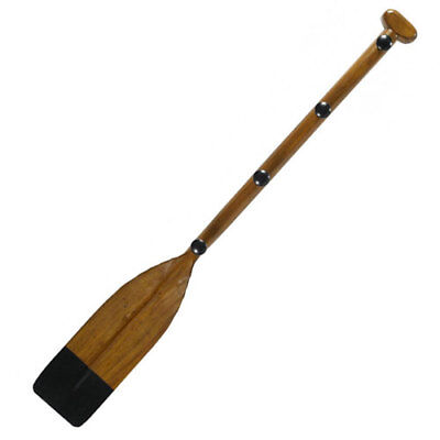 Wooden Black-Painted Tip Oar Coat Rack in Honey Antique French Finish