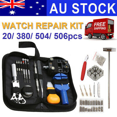 506Pcs Watch Repair Tool Kit Watchmaker Back Case Remover Opener Spring Pin Bar