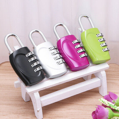 Lot 4 Digit Combination Padlock Travel Suitcase Luggage Security Password Lock