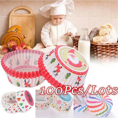 Supplies Santa Claus Christmas Muffin Cases Cupcake Wrappers Cake Paper Cups